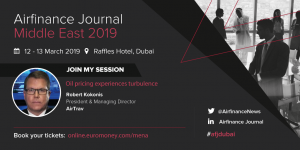 AirTrav MD Robert Kokonis to speak on fuel price impacts at Airfinance Conference Middle East, Dubai, March 13